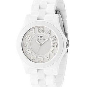 Marc Jacobs White Riviera Watch